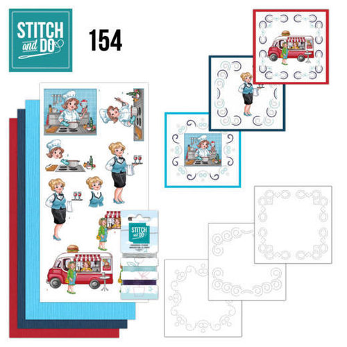 Stitch and Do  Stitch and Do 154 - Yvonne Creations - Bubbly Girls - Professions