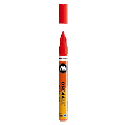 Molotow Molotow One four All Acrylmarker 2 mm nr 13 Traffic Red
