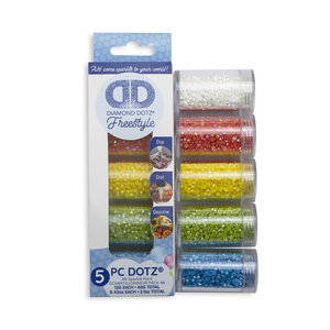 Diamond Dotz Diamond Painting Losse Steentjes Sparkle kleuren 5 x 12 gram
