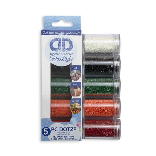 Diamond Dotz Diamond Painting Losse Steentjes Holiday kleuren 5 x 12 gram