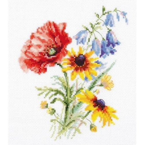Alisa Alisa Borduurpakket Veldbloemen S2-48