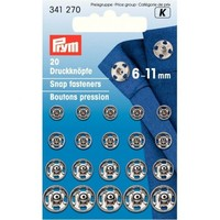 Prym Aannaaidrukknopen 6-11mm 20 stuks