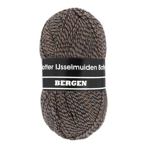 Botter IJsselmuiden Oslo Botter Bergen Sokkenwol 100 gram nr 73 Bruin, Grijs, Blauw