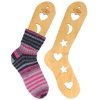 Houten Sockblockers per paar bruin