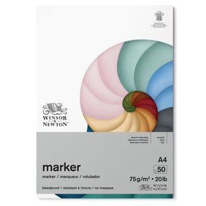 Winsor & Newton Winsor & Newton Marker Papier blok 75 grams 50 vel