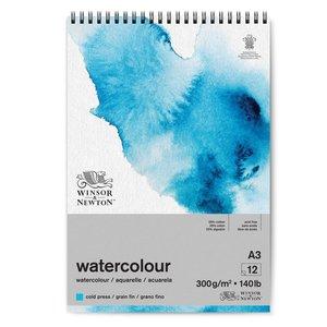 Winsor & Newton Winsor & Newton Classic Aquarelpapier Grain fin Blok 300 gram Spiraalblok