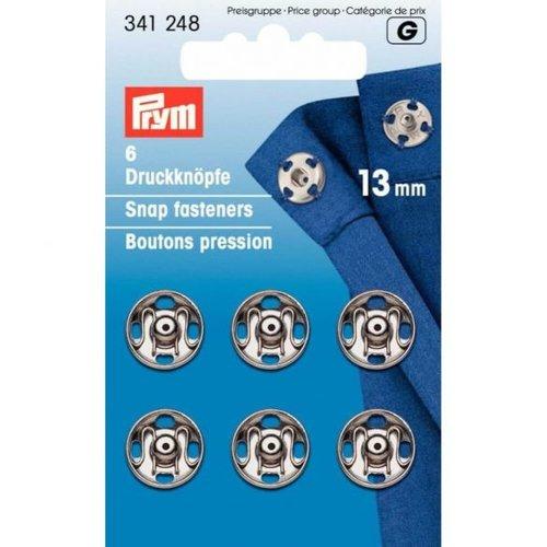 Prym Aannaaidrukknopen 13mm Zilver 6 stuks