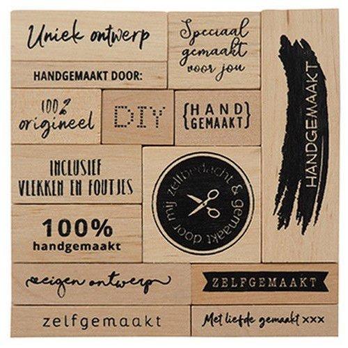 Marianne Design Marianne D Houtstempel set - Zelfgemaakt (NL) CS1074 100x100x25mm