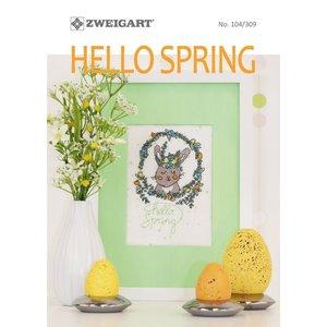 Zweigart Zweigart Borduurpatronen boekje Hello Spring 104-309