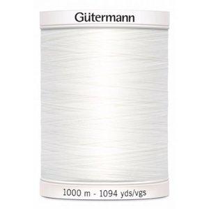 Gutermann Gutermann Allesnaaigaren 1000 meter nr 800 Wit