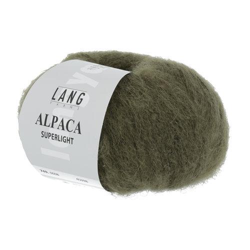 Lang Yarns Lang Yarns Alpaca Superlight Olive Dunkel 25 gram nr 98