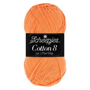 Scheepjeswol Scheepjes Cotton 8 50 gram nr 639 Oranje