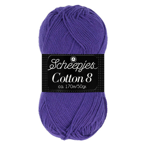 Scheepjeswol Scheepjes Cotton 8 50 gram nr 661 Paars