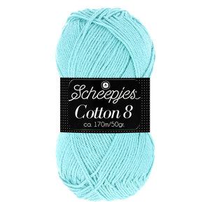 Scheepjeswol Scheepjes Cotton 8 50 gram nr 663 Blauw