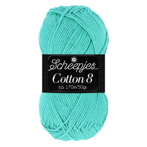 Scheepjeswol Scheepjes Cotton 8 50 gram nr 665 Mint