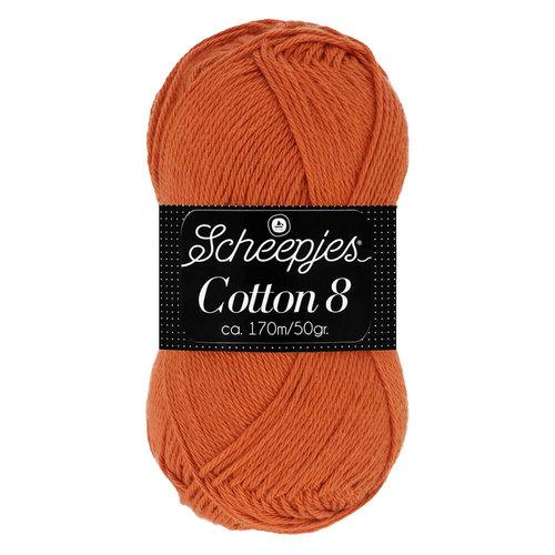 Scheepjeswol Scheepjes Cotton 8 50 gram nr 671 Oranje