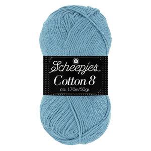 Scheepjeswol Scheepjes Cotton 8 50 gram nr 711 Blauw