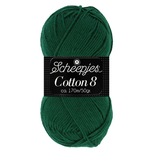 Scheepjeswol Scheepjes Cotton 8 50 gram nr 713 Groen