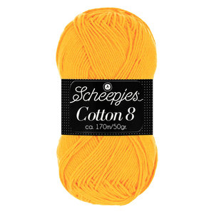 Scheepjeswol Scheepjes Cotton 8 50 gram nr 714 Geel