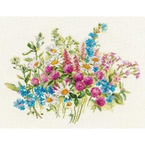 Alisa Alisa Borduurpakket Veldbloemen 2-33