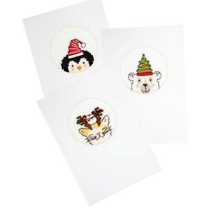 Pako Borduurpakket Kerstkaarten 3 stuks