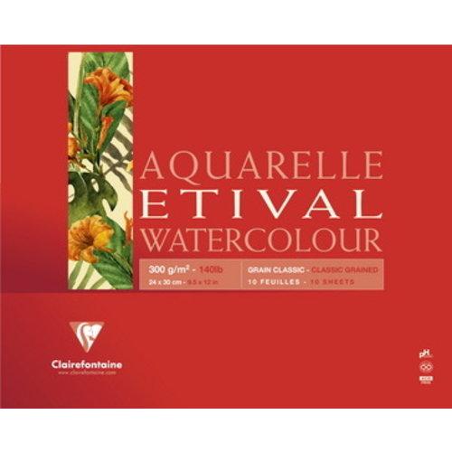 Clairefontaine Clairefontaine Etival classic aquarelblok 300 gram 10 vel