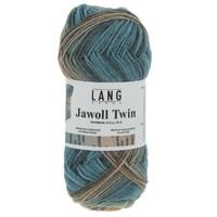 Lang Yarns Jawoll Twin 0513 Blauw Groen Mix