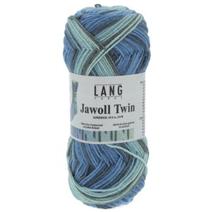Lang Yarns Lang Yarns Jawoll Twin 0514 Blauw Gemêleerd