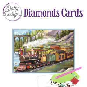 Dotty Designs   Dotty Design Diamond Painting Kaart Vintage Train