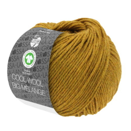 Lana Grossa Cool Wool Big Mélange Gots 50 gram Amber Nr 214
