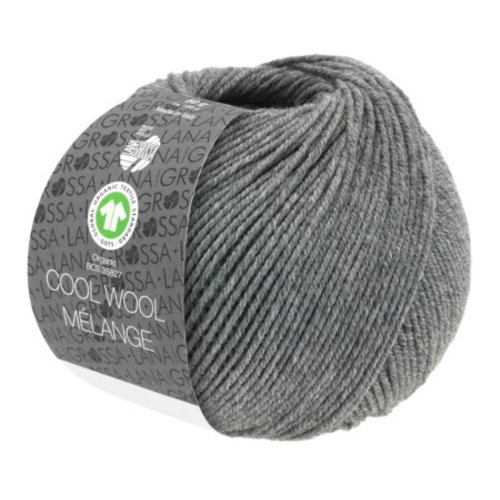 Lana Grossa Lana Grossa Cool Wool Big Mélange Gots Donkergrijs Nr 221