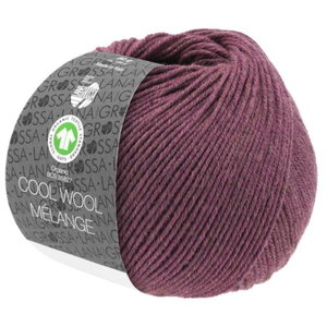 Lana Grossa Lana Grossa Cool Wool Big Mélange Gots 50 gram Bessenrood Nr 218