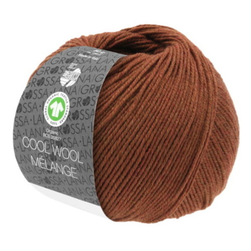 Lana Grossa Lana Grossa Cool Wool Big Mélange Gots 50 gram Bruin Nr 216