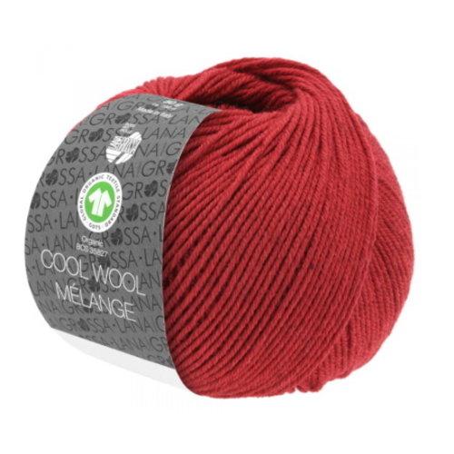 Lana Grossa Lana Grossa Cool Wool Big Mélange Gots 50 gram Rood Nr 215