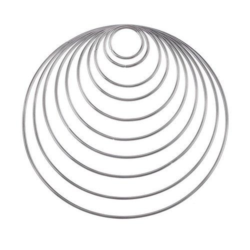 Metalen ringen 8 cm
