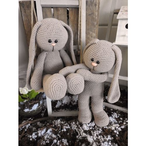 Funny's Haken XXL Funny Bunny Basic taupe (staand of zittend)