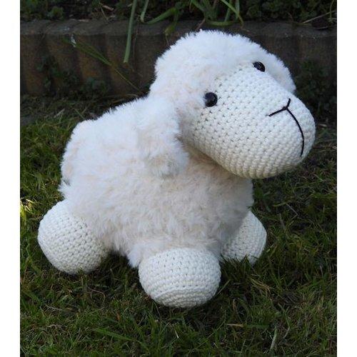 Funny's Haken Haakpakket Funny Furry Sheep Soft ivoor