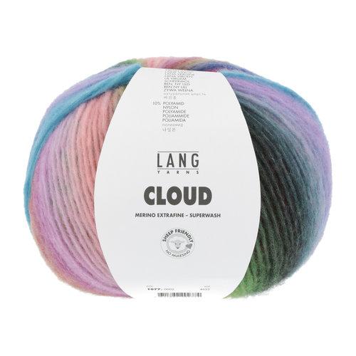 Lang Yarns Lang Yarns Cloud 100 gram nr 0002 Rood Blauw Groen Gemêleerd