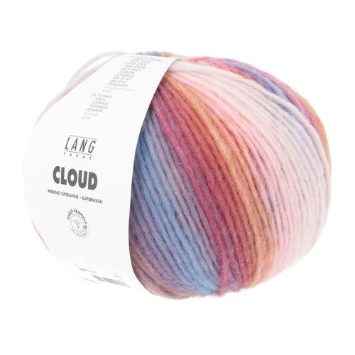 Lang Yarns Lang Yarns Cloud 100 gram nr 0003 Roze Gemêleerd