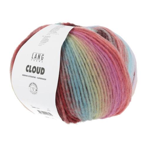 Lang Yarns Lang Yarns Cloud 100 gram nr 0005 Rood Gemêleerd