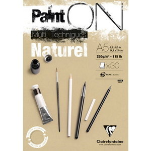 Clairefontaine Clairefontaine Paint On Naturel 250 gram 30 vel Multi Media