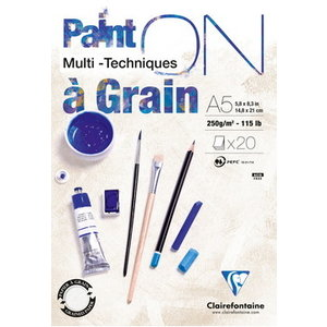 Clairefontaine Clairefontaine Paint On A Grain 250 gram 20 vel Multi Media