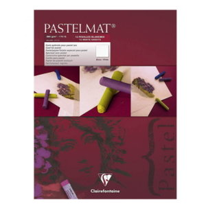 Clairefontaine Clairefontaine Pastelmat blok nr 3 360 gram 12 vel Wit