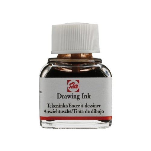 Talens  Watervaste tekeninkt 11 ml Flacon Sepia 416
