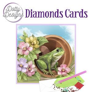 Dotty Designs   Dotty Design Diamond Painting Kaart Kikker