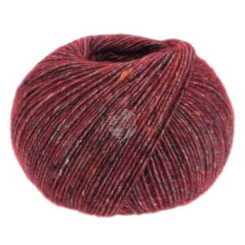 Lana Grossa Lana Grossa Ecopuno Tweed nr 312 Wijnrood Gemêleerd
