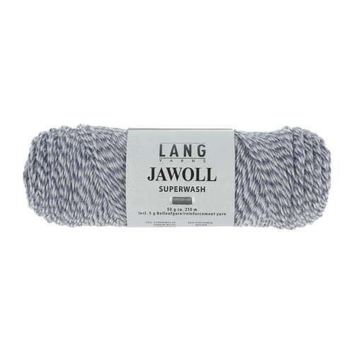 Lang Yarns Lang Yarns Jawoll 50 gram blue/light gray mouliné nr 151