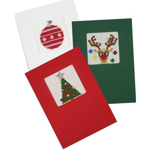 Pako Pako Borduurkaarten Kerst 3 Stuks