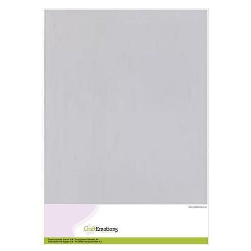 CraftEmotions Transparante sheets A4 5 vellen
