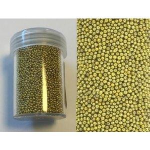 Mini pearls 0,8-1,0 mm goud 22 gram